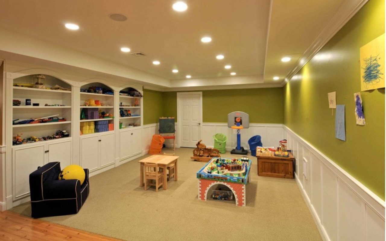 Finished basement ideas basement remodeling gallery for Does a walkout basement cost more
